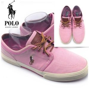 Men Polo Ralph Lauren VAUGHN Sneakers Pink Sz9.5
